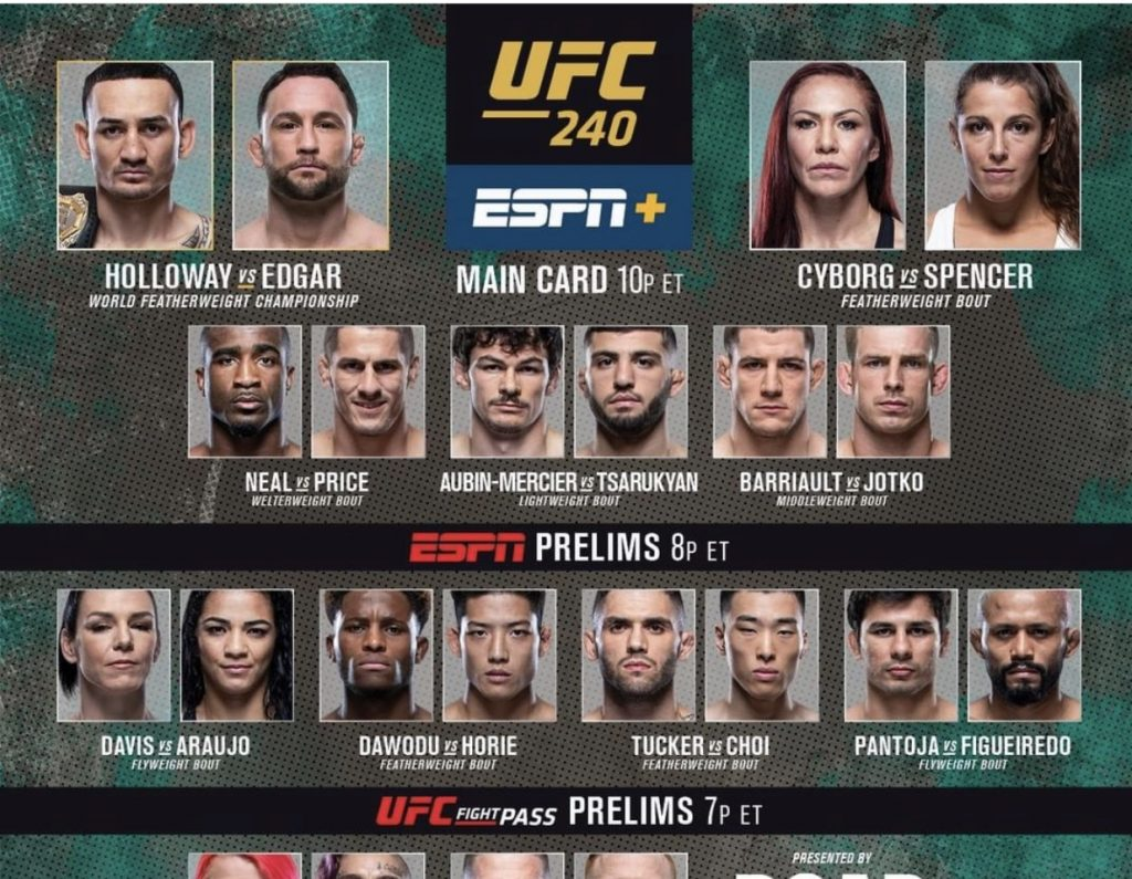 UFC 240 live results