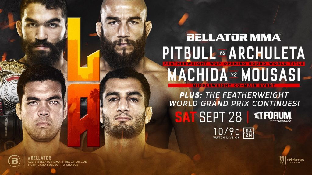 Archuleta, 'Pitbull' vs. Archuleta and Machida vs. Mousasi Headline Bellator's Return to L.A. on Sept. 28