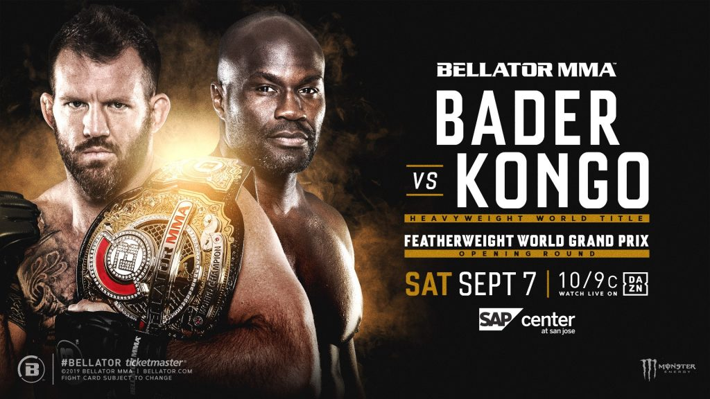 Ryan Bader defends heavyweight title against Cheick Kongo at Bellator 226