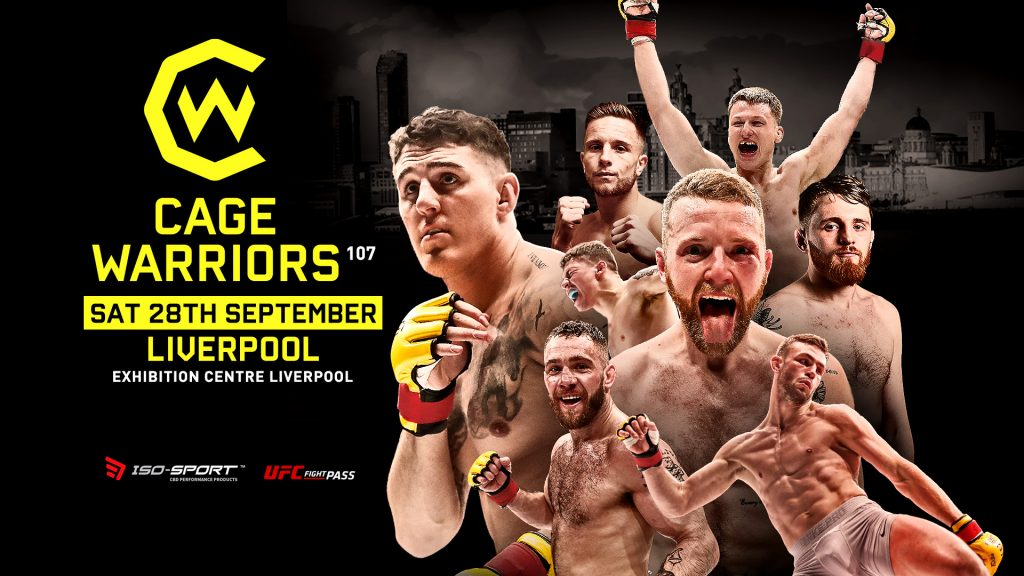 Cage Warriors 107 Full Fight Card and Broadcast Details Announced