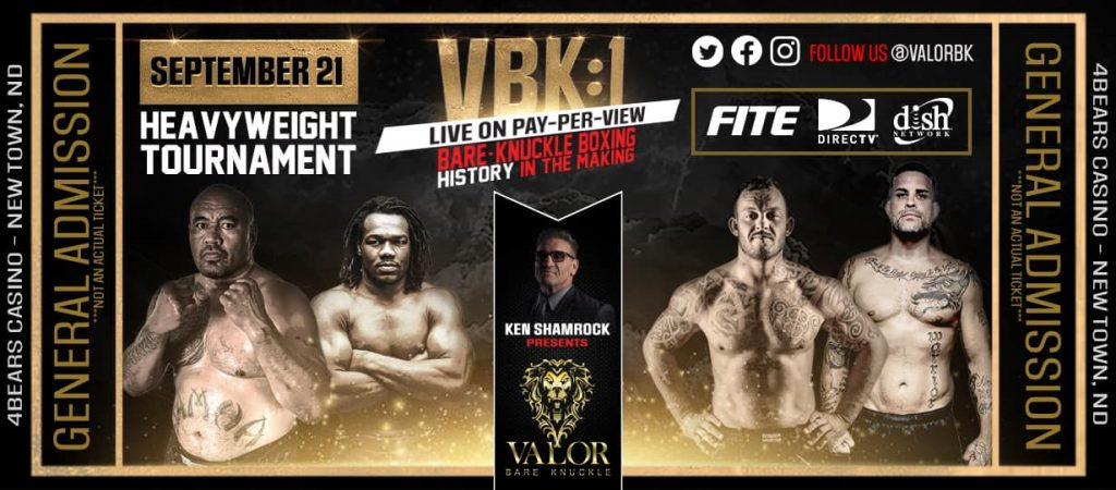 Valor Bare Knuckle announces lineup for VBK 1 - Heavyweight tournament brackets