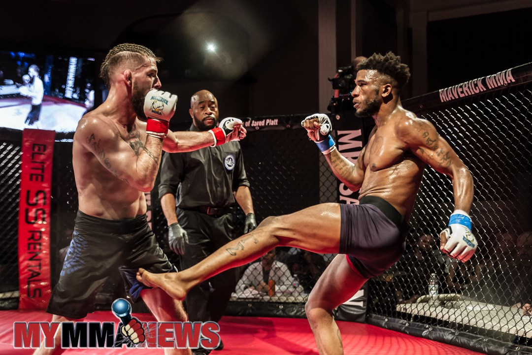 Chris Disonell vs. Chaka Worthy - Maverick 13 - Photo by William McKee for MyMMANews