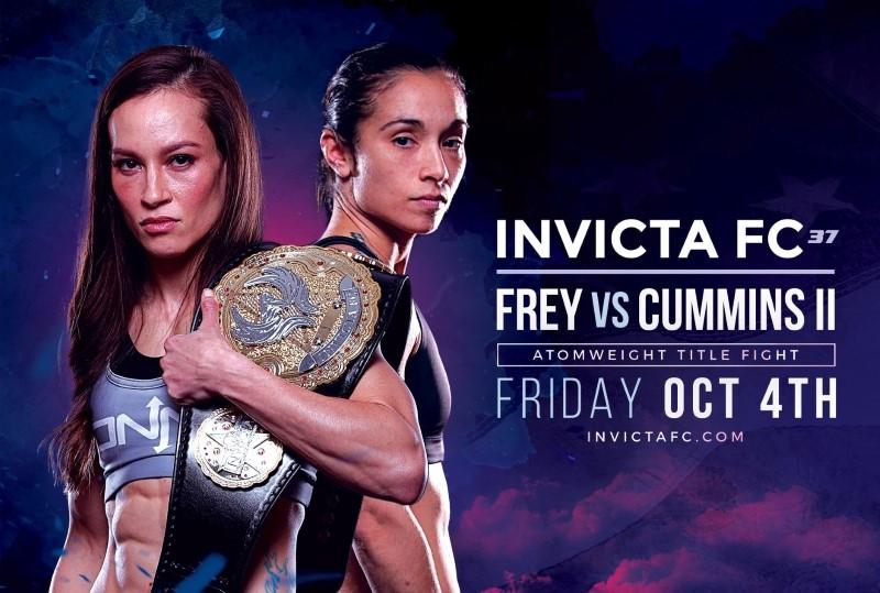 Jinh Yu Frey vs. Ashley Cummins Atomweight Title Clash Headlines Invicta FC 37 on Oct. 4