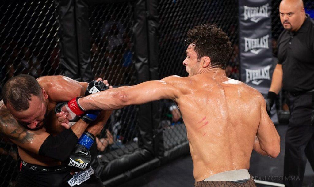 Vinicius De Jesus stops Chris Lozano - Photo by CES MMA Photographer Will Paul