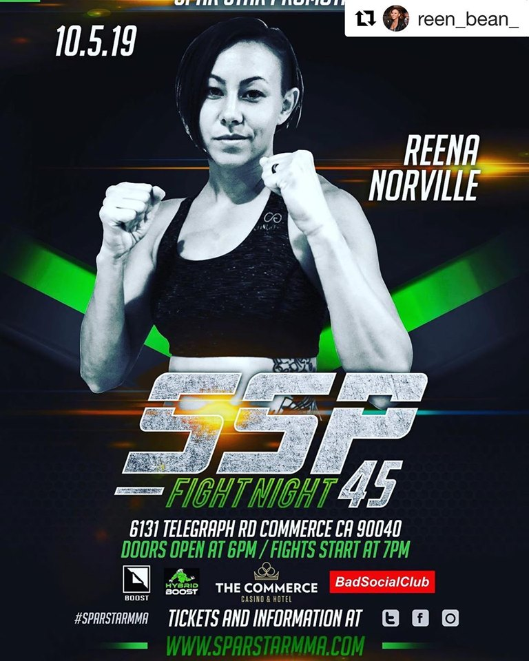 SSP Fight Night 45, Spar Star Promotions, Reena Norville