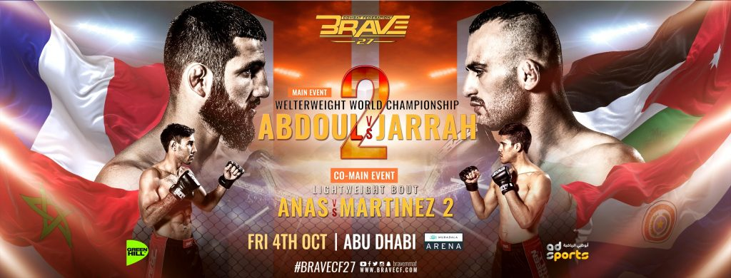 Brave CF 27 Abdoul vs Jarrah 2 - Official PPV Live Stream