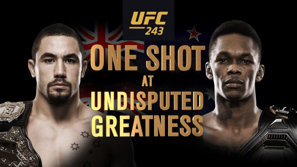 UFC 243 results - Whittaker vs. Adesanya for middleweight title