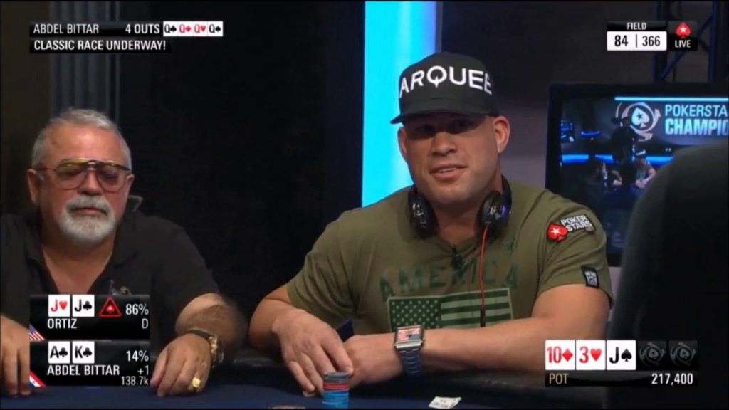 Tito Ortiz poker player, upping the ante