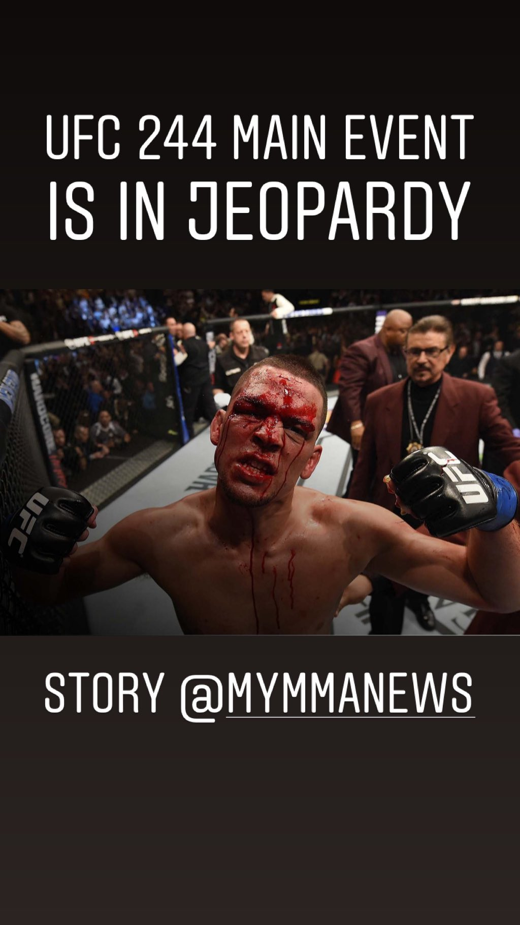 nate diaz says he is out of ufc 244