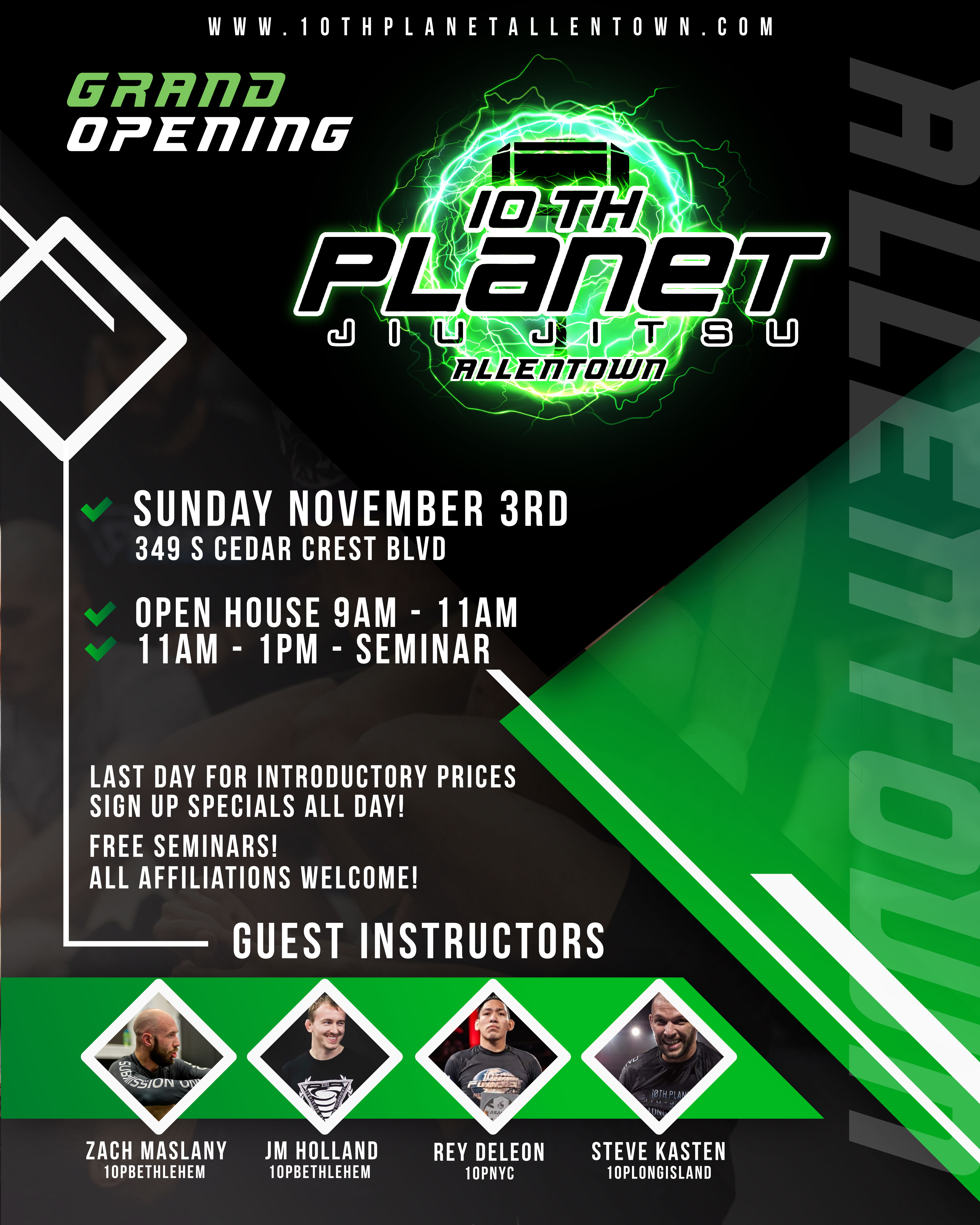 10th Planet Allentown Grand Opening Flyer