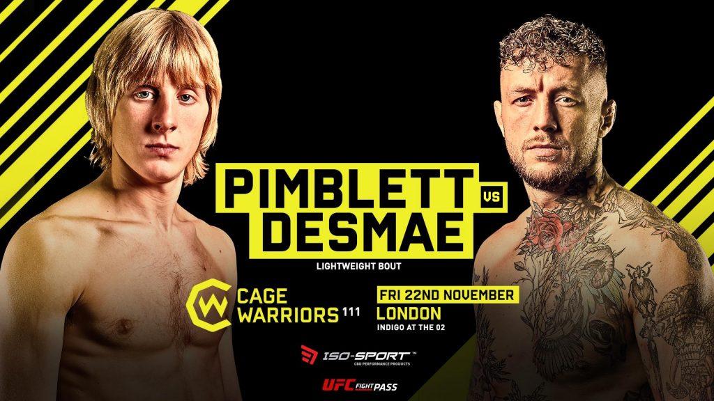 Cage Warriors 111, Paddy Pimblett, Donovan Desmae