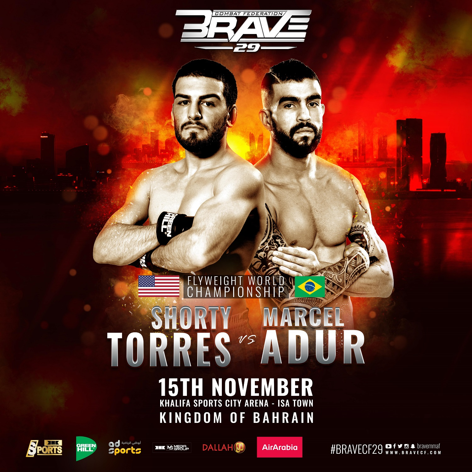 BRAVE CF 29: 'Shorty' Torres faces Marcel Adur for inaugural Flyweight title