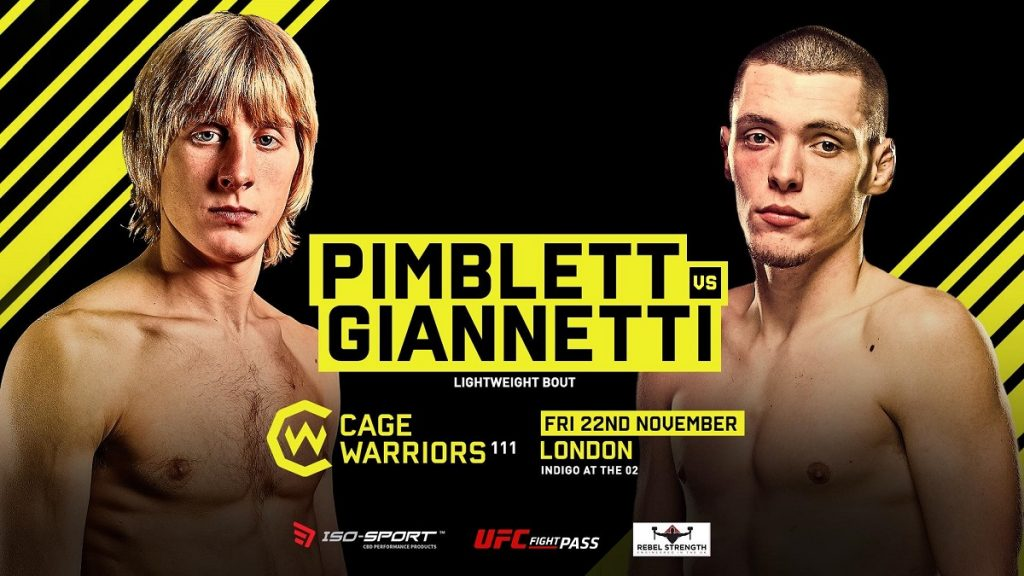 Cage Warriors 111: Paddy Pimblett vs. Joe Giannetti Bout Added