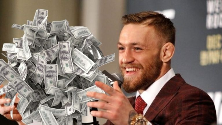 Best paid UFC fighters, conor McGregor money
