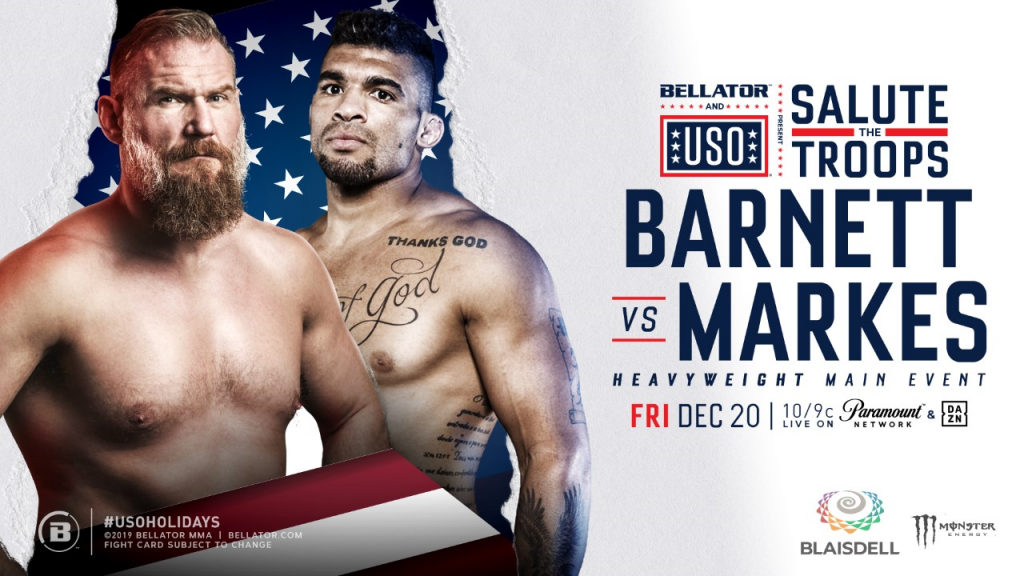 Bellator & the USO Team up to Salute the Troops with Special Live Event in Hawaii on Friday, Dec. 20