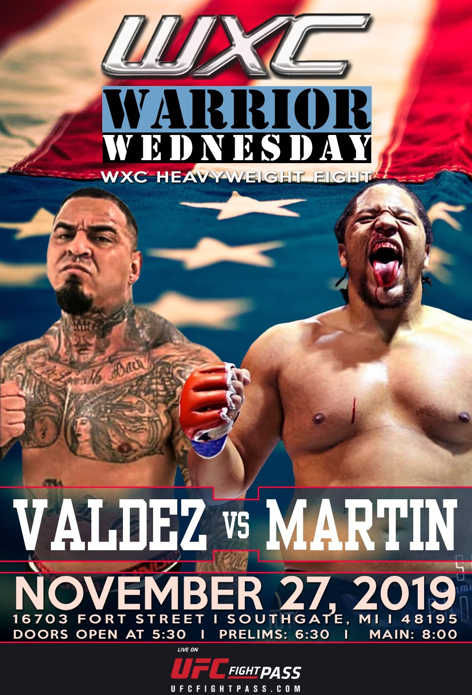 Thanksgiving Eve - Warrior Wednesday IX pairs Abel Valdez against Jonathan Martin
