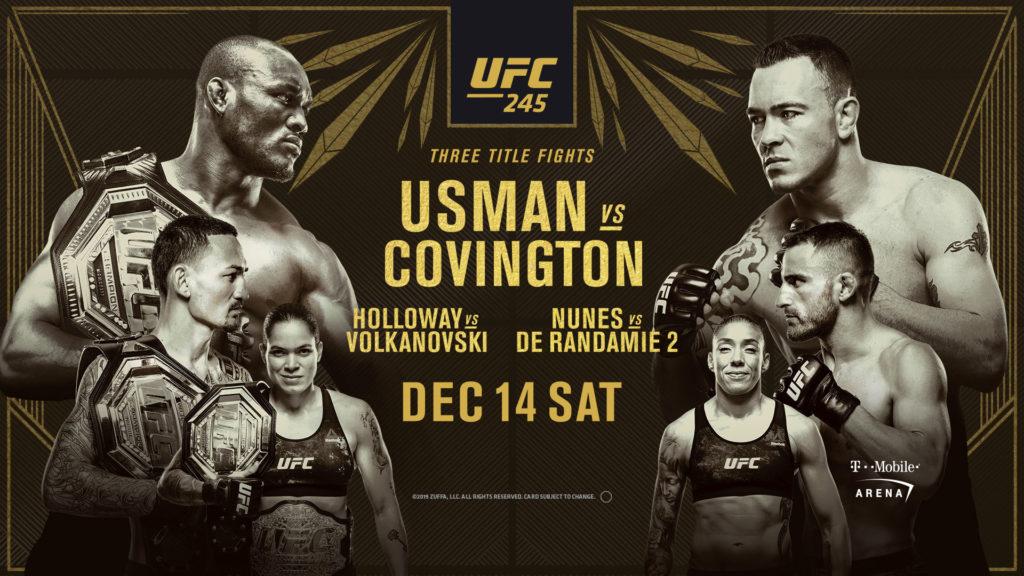 UFC 245 results - Usman vs. Covington