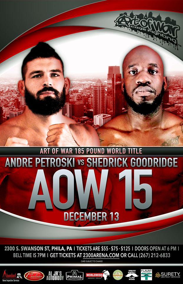 Shedrick Goodridge on Andrei Petroski at AOW 15