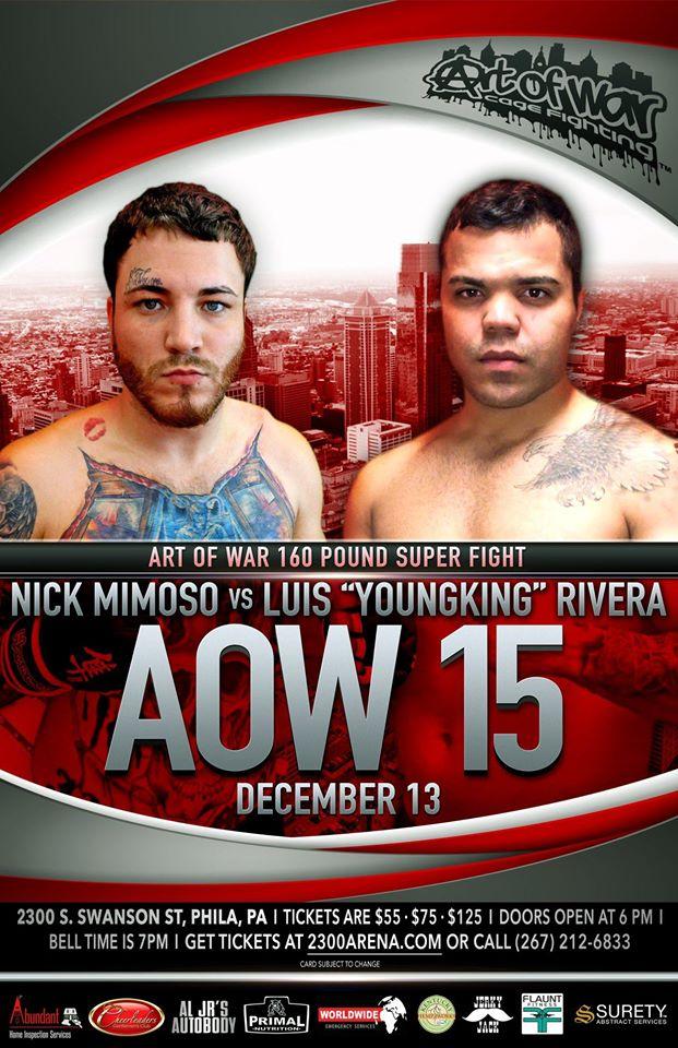 Nick Mimoso, AOW 15