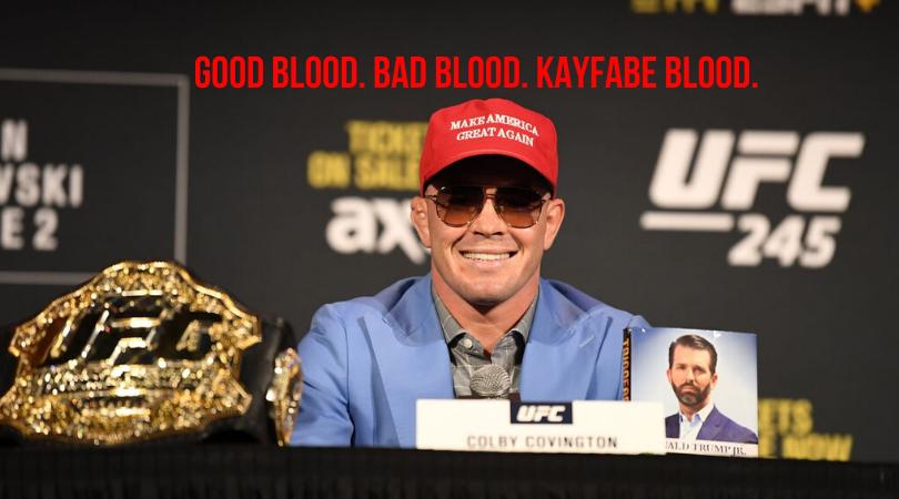 Kayfabe, UFC 245, Colby Covington