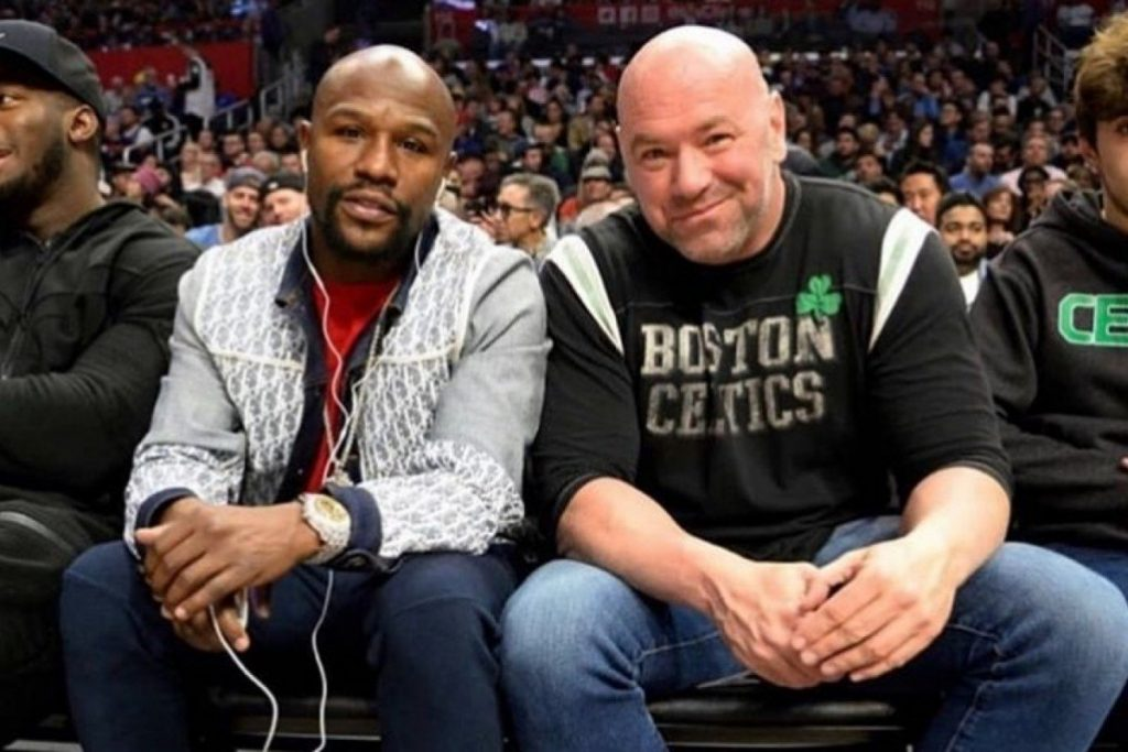 Dana White and Floyd Mayweather