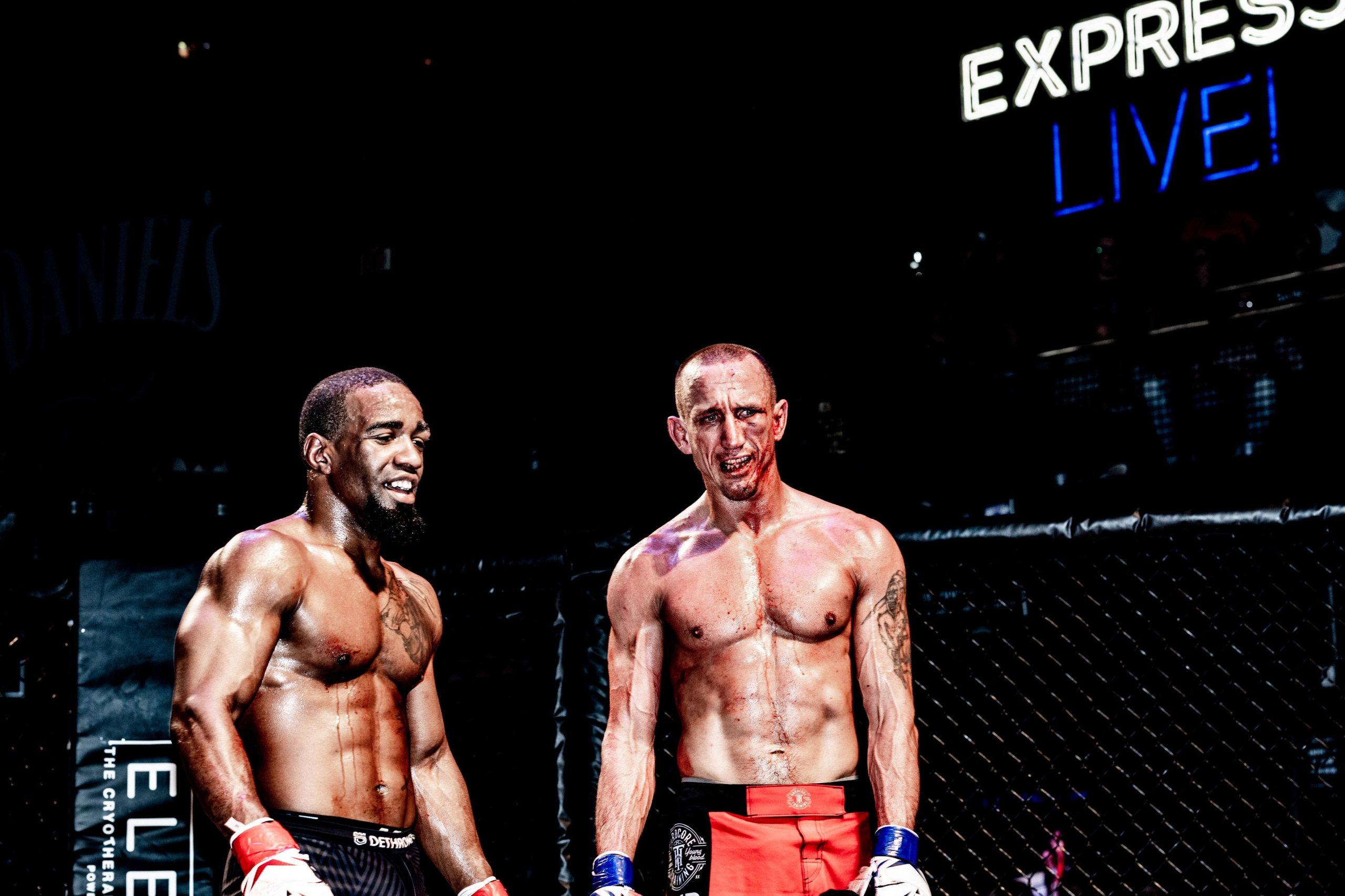 Alfred Leisure (right) vs. Corey Dulaney - Ohio Combat League 5 - Photo by Dave Hatfield (thelastwhitesquirrel)
