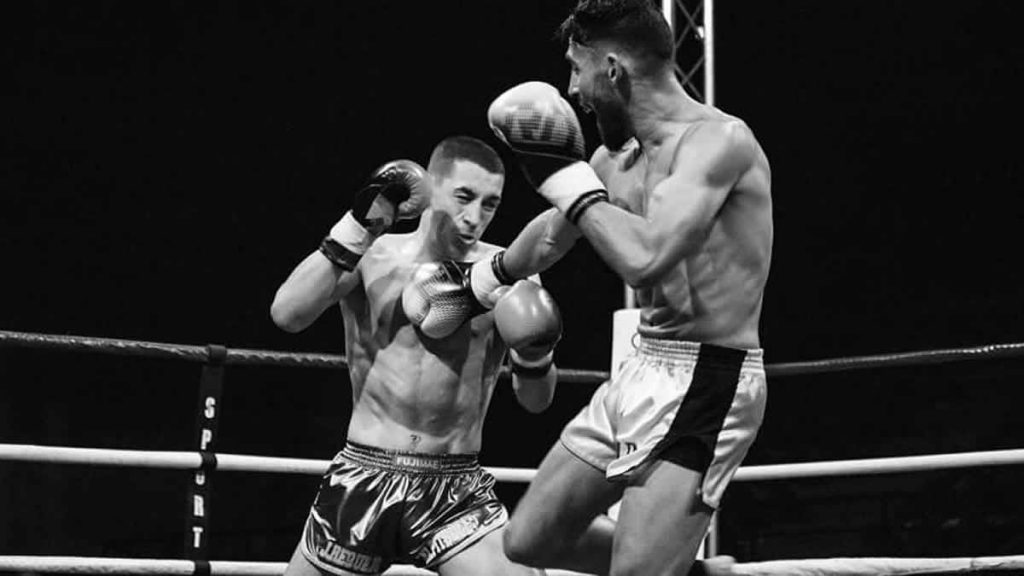 Jordi Requejo in his bout against Mickael Pignolo at BFS 1 Nimes