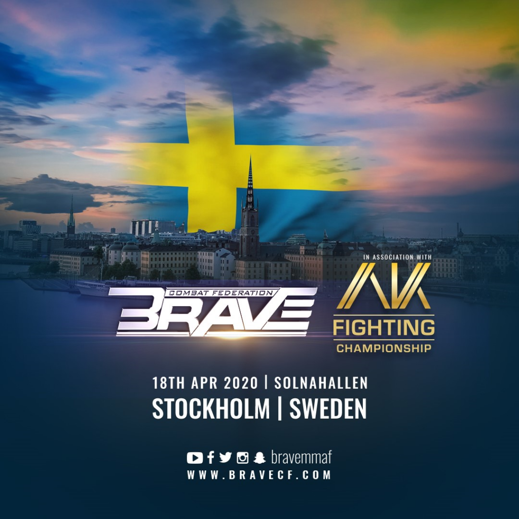 BRAVE Combat Federation heads to Sweden for first time