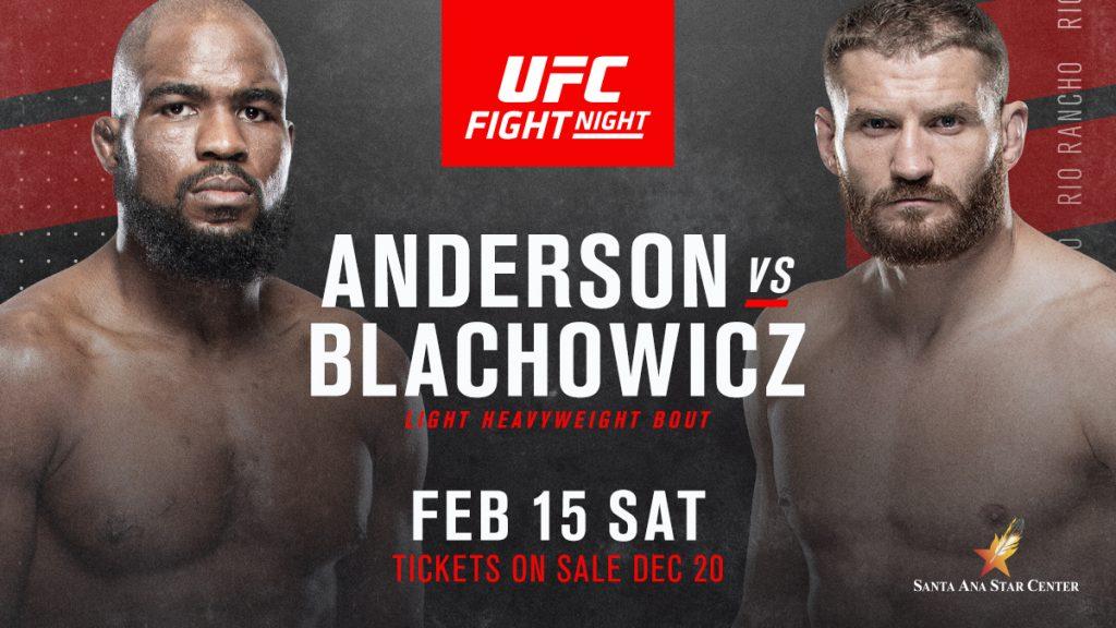 UFC Rio Rancho results - Anderson vs. Blachowicz 2