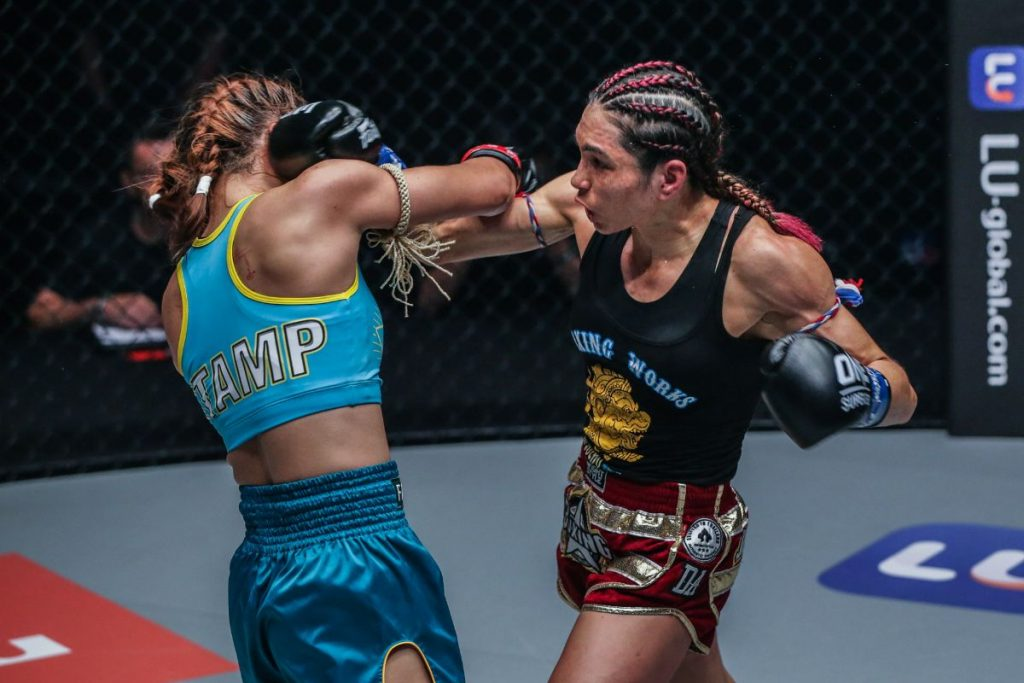Janet Todd stuns Stamp Fairtex to win ONE atomweight kickboxing world title by split decision