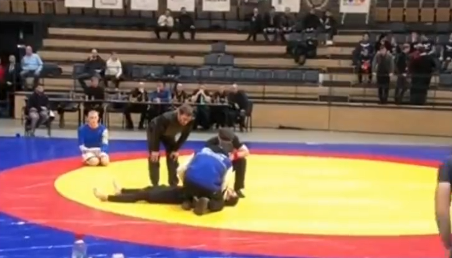 Man paralyzed after attepting flying armbar in competition - VIDEO