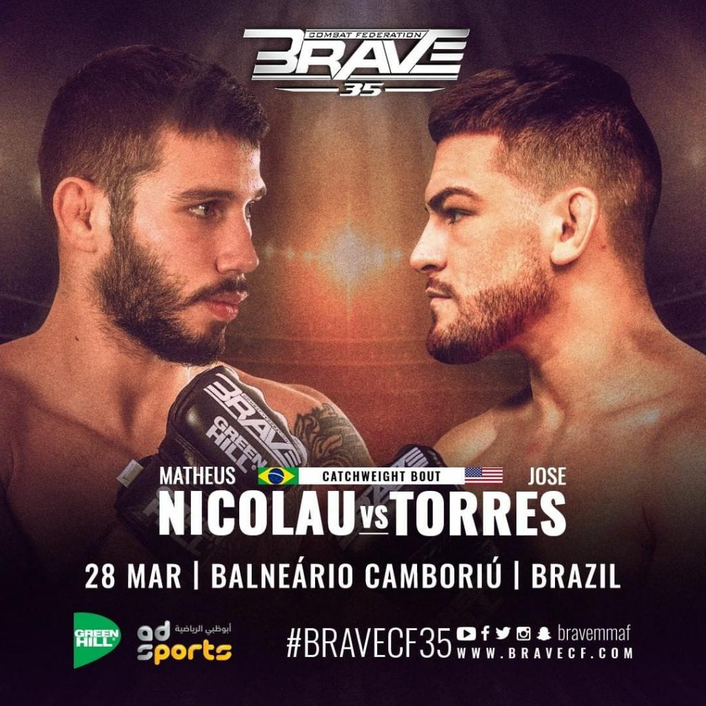 UFC veterans Shorty Torres, Matheus Nicolau to meet at BRAVE CF's Flyweight tournament