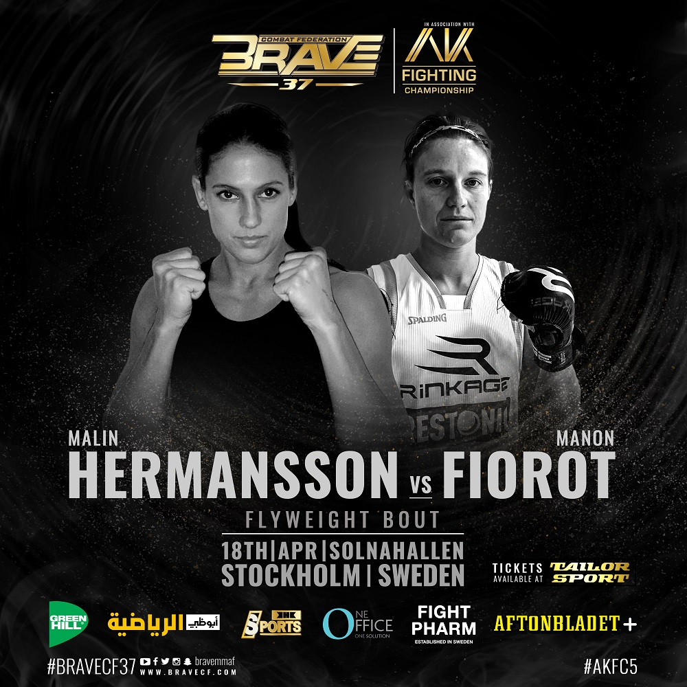 Sweden's Malin Hermansson faces France's Manon Fiorot at BRAVE CF 37