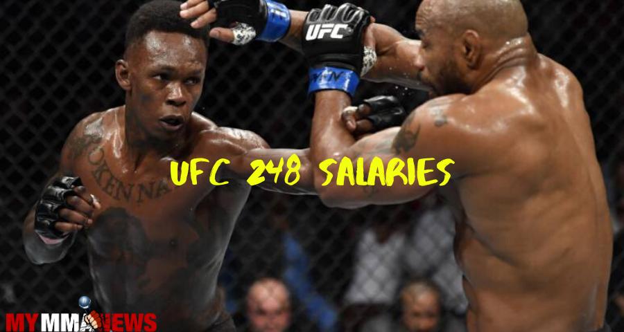 UFC 248 salaries, Adesanya tops list at $500,00