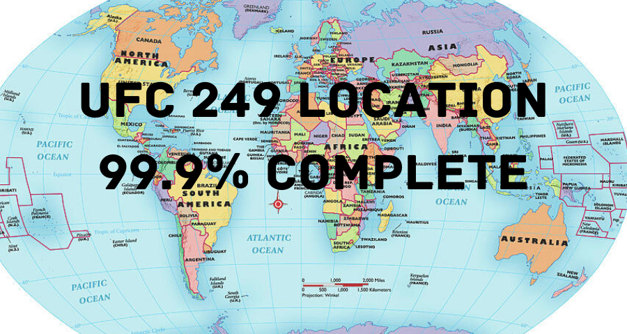 UFC 249 location is '99.9%' complete