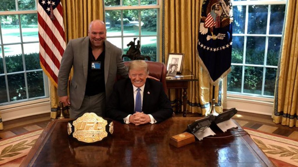 Dana White says President Trump calls him the Monday after fights
