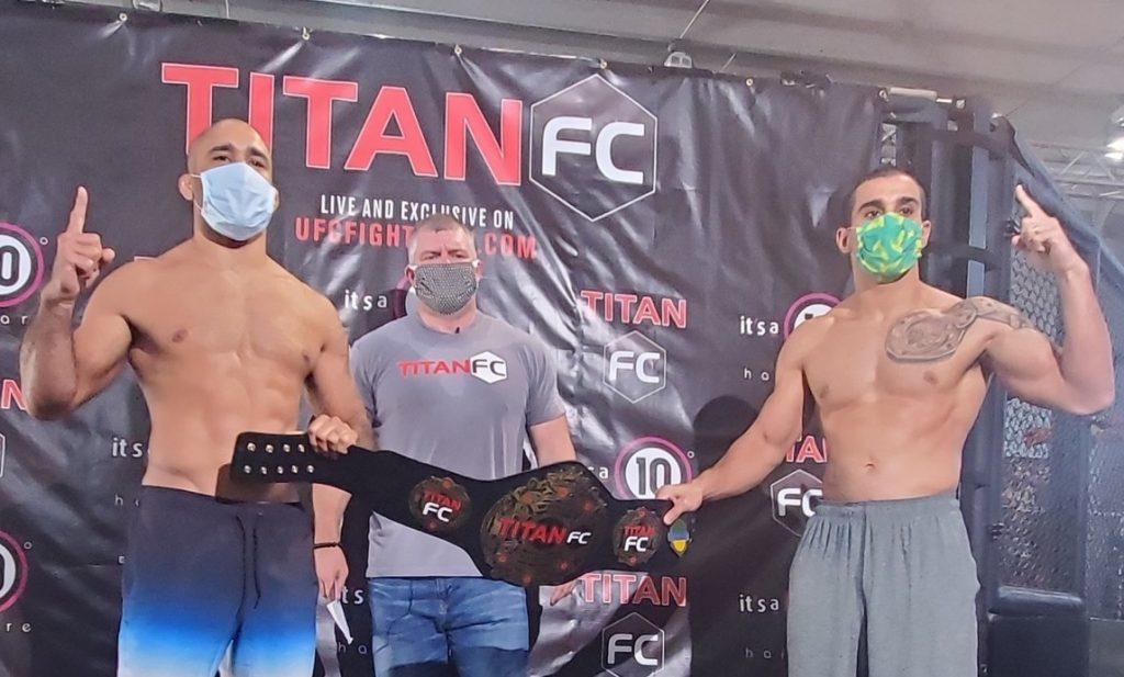 Titan FC 60 weigh-in results - Cavalcante vs. Manfio