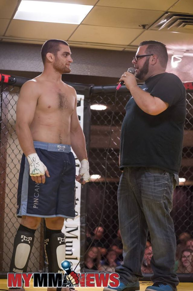 Paul Matreselva Jr. speaks with Michael Dessino following his win at PA Cage Fight 29.