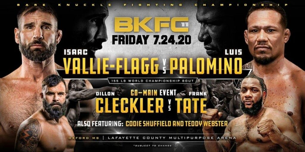 Bare Knuckle FC 11 results - Vallie-Flagg vs. Palomino – Lightweight Championship