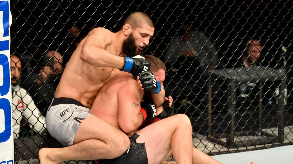 Khamzat Chimaev submits John Phillilps in UFC debut, ufc fight night