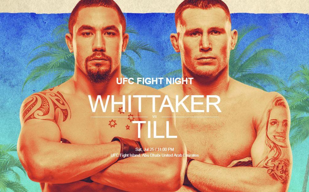 UFC Fight Island 3, Robert Whittaker, Darren Till