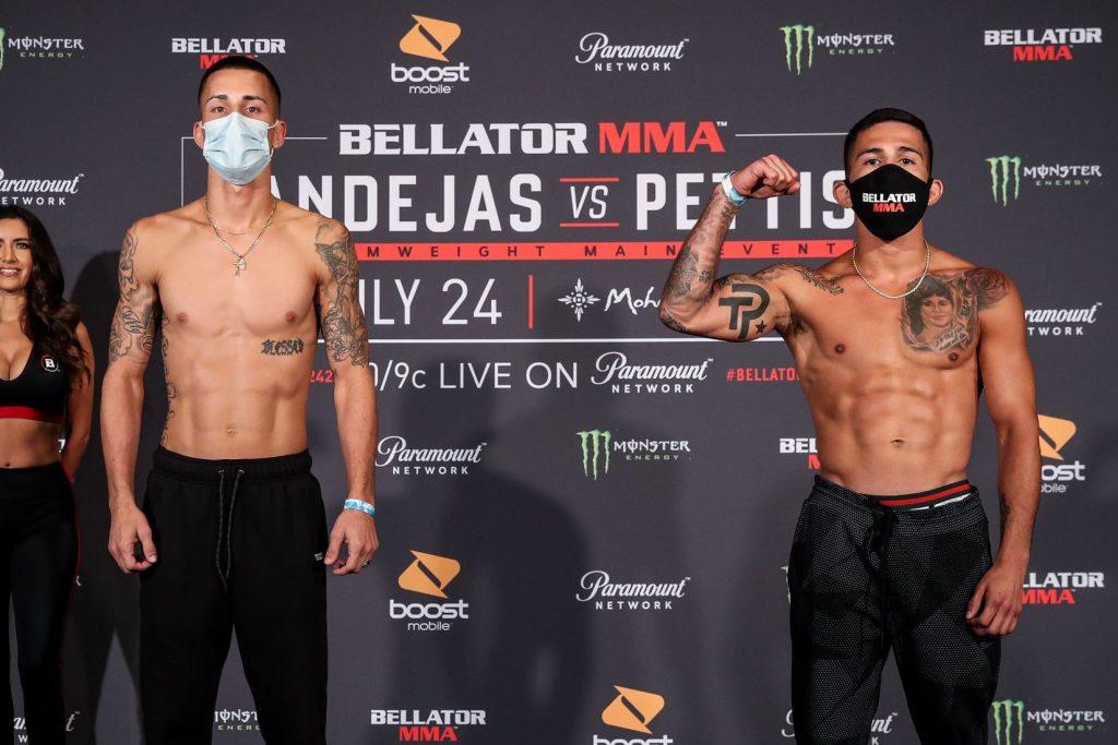 Bellator 242 weigh-in results - Bandejas vs. Pettis