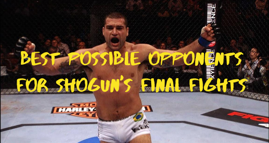 Best Possible Opponents for Shogun's Final Fights