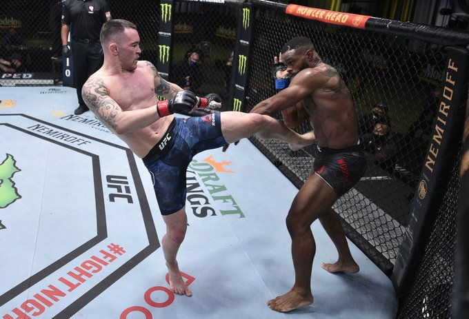 Colby Covington dominates Tyron Woodley, fight stopped in 5th round due to injury, UFC Vegas 11