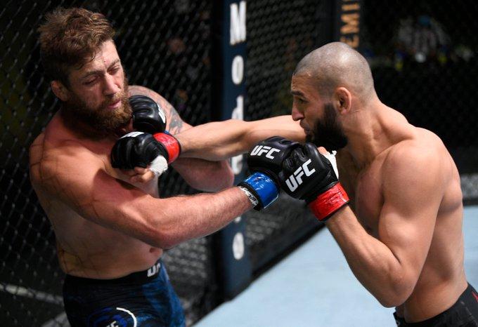 Khamzat Chimaev one-punch KO's Gerald Meerschaert in round one