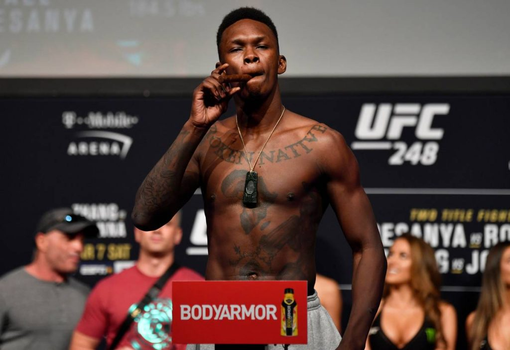 "Israel Adesanya will ""definitely go back down to 185"" after UFC 259"