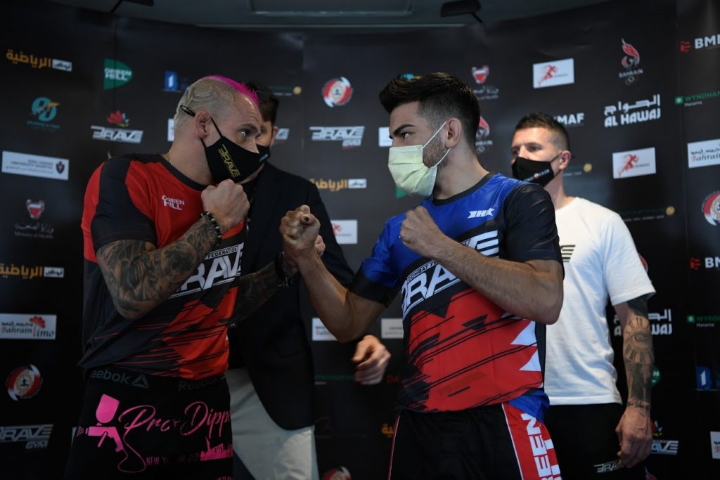 BRAVE CF 42 weigh-in results - Santella vs. Torres