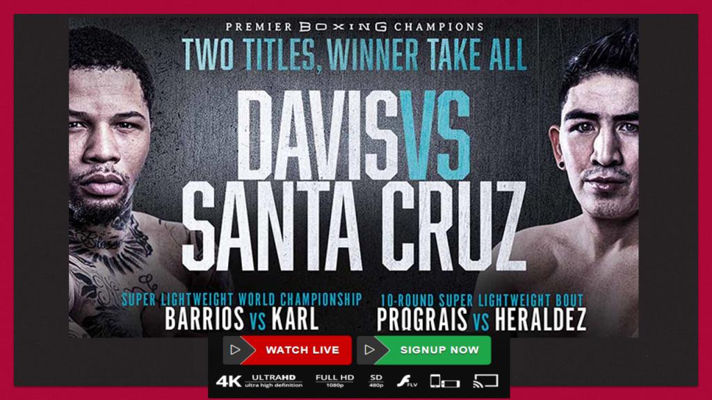 Davis vs Santa Cruz Live Stream on Reddit Free Watch Two Title Boxing Fight Card Alamodome on Saturday Night