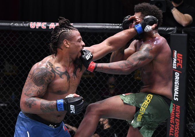 Greg Hardy finishes Maurice Greeene in round two