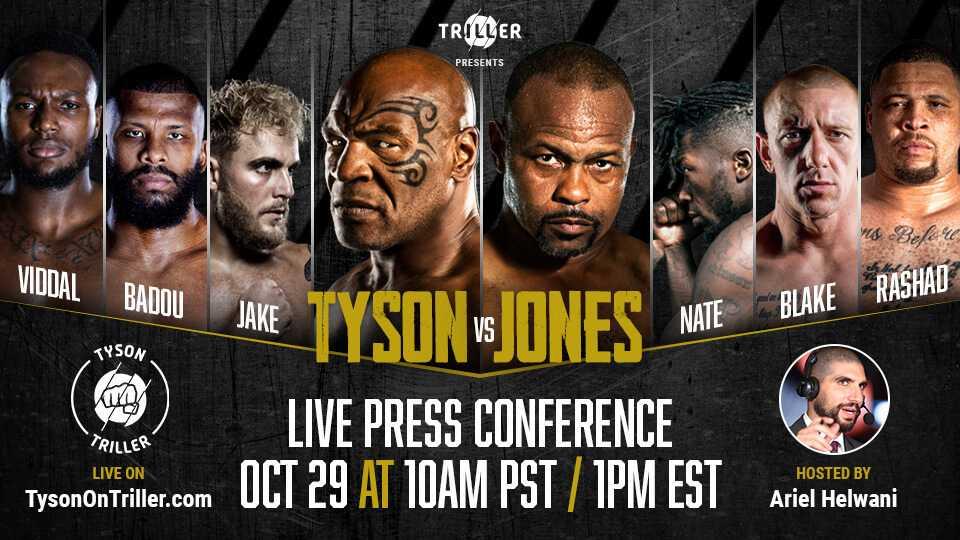 Press Conference - Mike Tyson vs Roy Jones Jr.